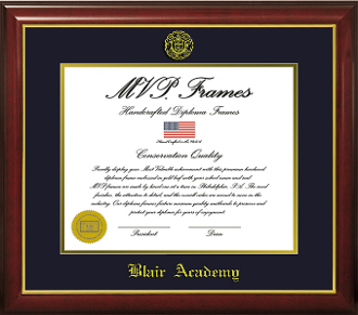 Diploma Frame - Cherry Gloss - Gold Lip