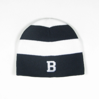 Navy/White Stripe Rugby Knit Hat