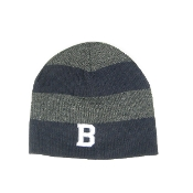 Navy/Grey Stripe Rugby Knit Hat